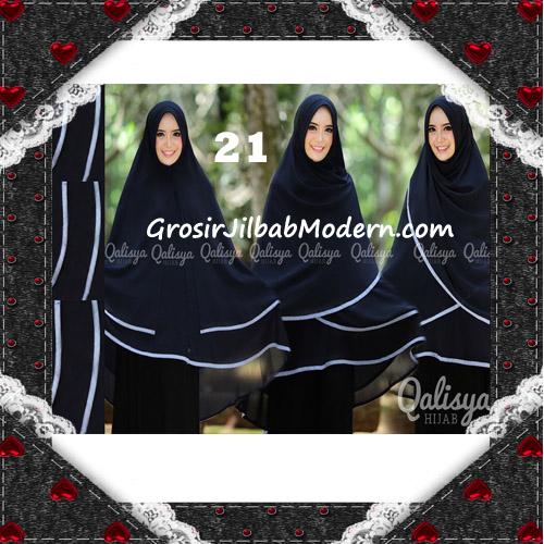 Jilbab Cerutti Jumbo Khimar Syar'i Taqiya Terbaru Original By Qalisya No 21