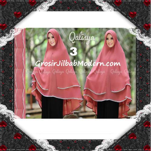 Jilbab Cerutti Jumbo Khimar Syar'i Taqiya Terbaru Original By Qalisya No 3