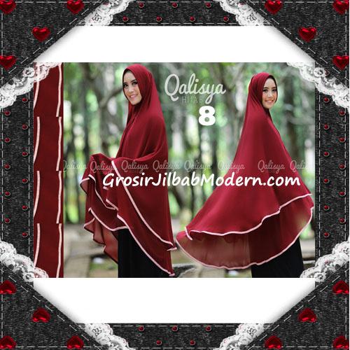 Jilbab Cerutti Jumbo Khimar Syar'i Taqiya Terbaru Original By Qalisya No 8