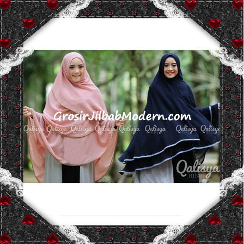 Jilbab Cerutti Jumbo Khimar Syar'i Taqiya Terbaru Original By Qalisya Tanpa Pet