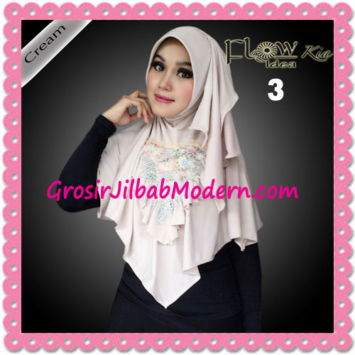 Jilbab Instant Cantik Syria Kia Original Flow Idea No 3 Cream
