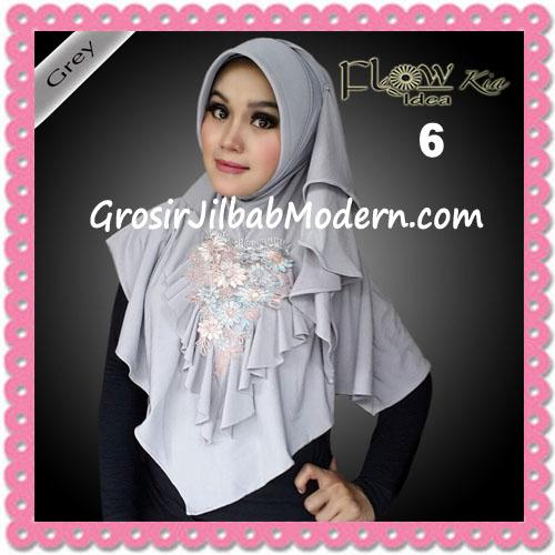 Jilbab Instant Cantik Syria Kia Original Flow Idea No 6 Grey
