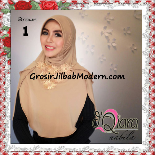Jilbab Instant Modern Nabila Ala Artis Dian Sastro Original d'Qiara Brand No 1 Brown
