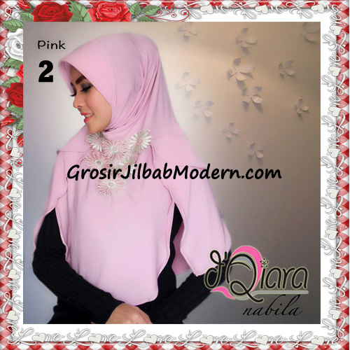 Jilbab Instant Modern Nabila Ala Artis Dian Sastro Original d'Qiara Brand No 2 Pink