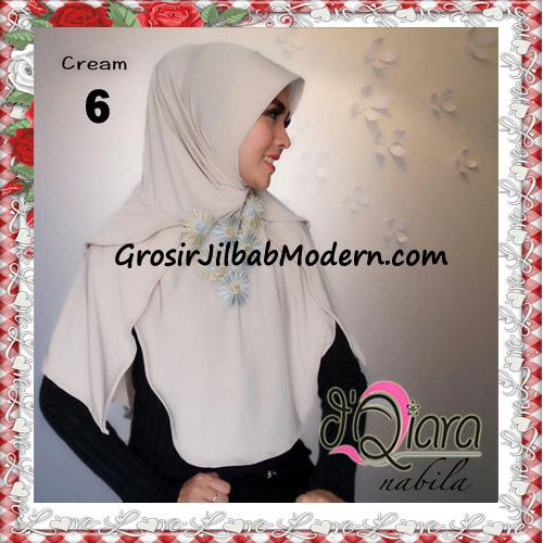 Jilbab Instant Modern Nabila Ala Artis Dian Sastro Original d'Qiara Brand No 6 Cream