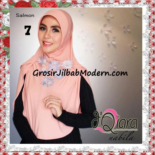 Jilbab Instant Modern Nabila Ala Artis Dian Sastro Original d'Qiara Brand No 7 Salmon