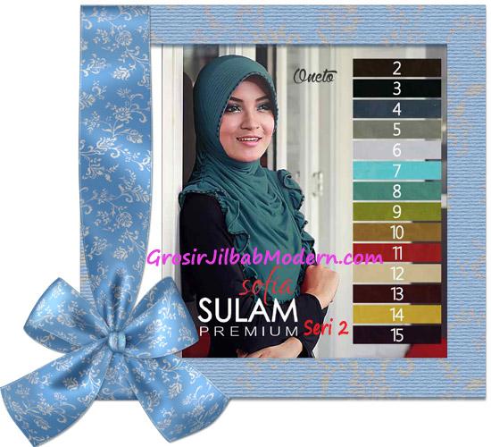 Jilbab Instant Pet Cantik Sofia Sulam Premium Seri 2