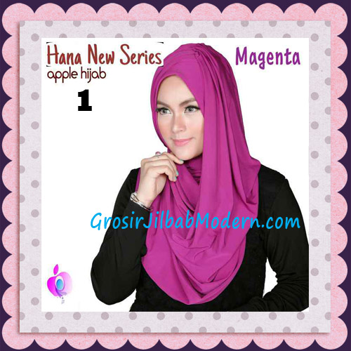 Jilbab Instant Simple Cantik Hana New Series Original By Apple Hijab Brand No 1 Magenta