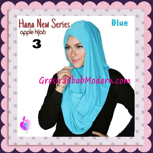 Jilbab Instant Simple Cantik Hana New Series Original By Apple Hijab Brand No 3 Blue
