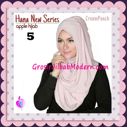 Jilbab Instant Simple Cantik Hana New Series Original By Apple Hijab Brand No 5 Cream Peach