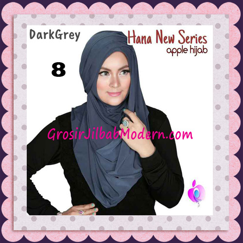 Jilbab Instant Simple Cantik Hana New Series Original By Apple Hijab Brand No 8 Dark Grey