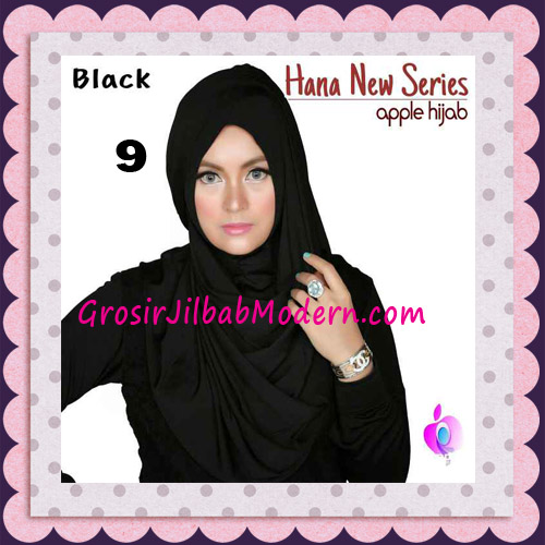Jilbab Instant Simple Cantik Hana New Series Original By Apple Hijab Brand No 9 Black