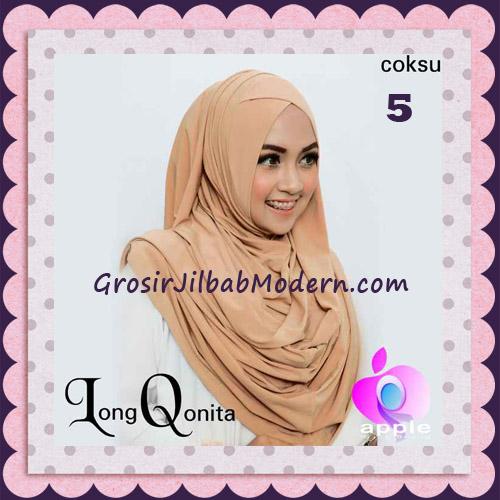 Jilbab Instant Syria Long Qonita Hoodie Cantik Original Apple Hijab Brand No 5 Coksu