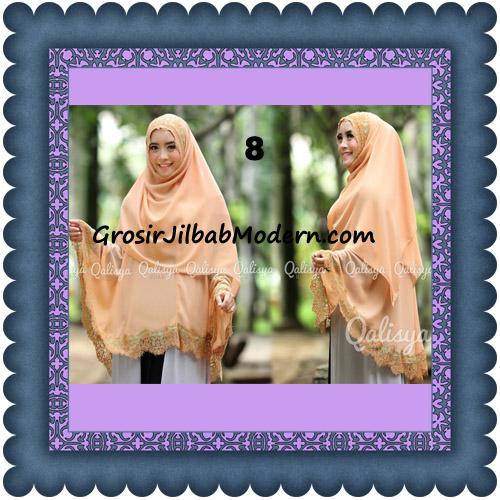 Jilbab Khimar Instant Jumbo Cerutti Faizia Ala Artis Lyra Virna Original by Qalisya No 8 Salem