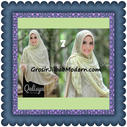 Jilbab Khimar Syar'i Elegan Halwa Brukat Seri 2 Trendy By Qasilya Brand No 7 Cream