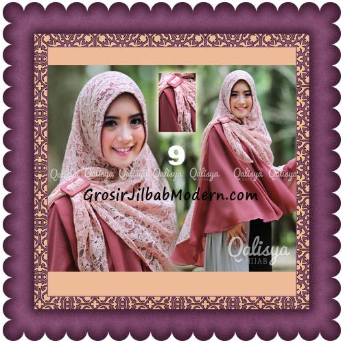 Jilbab Khimar Syar'i Halwa Brukat Modis Trendy By Qasilya Brand No 9 Teracota