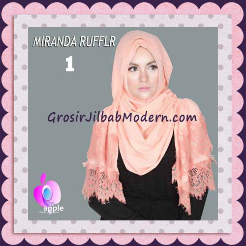 Jilbab Pashmina Instant Unik dan Cantik Premium Miranda Ruffle Original By Apple Hijab Brand No 1 Salem