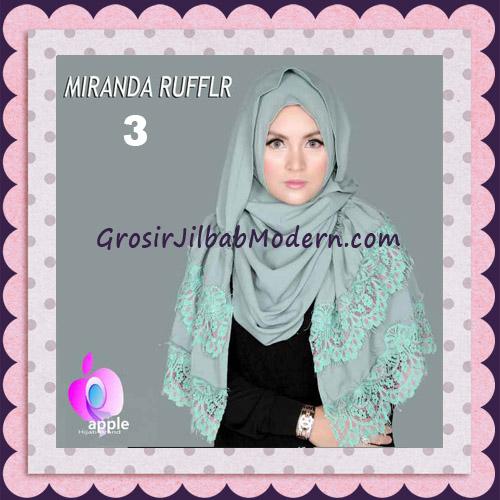 Jilbab Pashmina Instant Unik dan Cantik Premium Miranda Ruffle Original By Apple Hijab Brand No 3 Mint