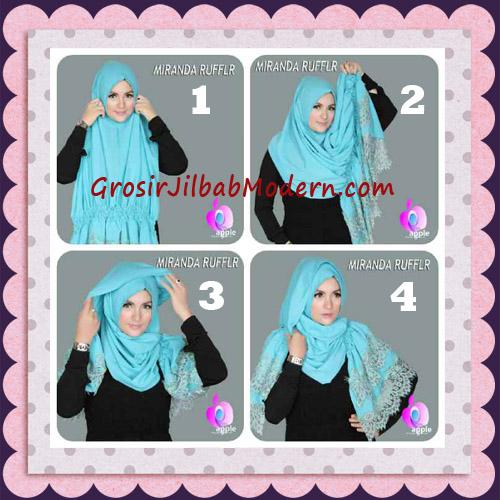 Jilbab Pashmina Instant Unik dan Cantik Premium Miranda Ruffle Original By Apple Hijab Brand - Tutorial