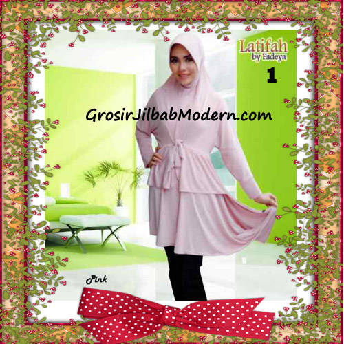 Jilbab Syar'i Lengan Modis Latifah Original By Fadeya Brand No 1- Pink
