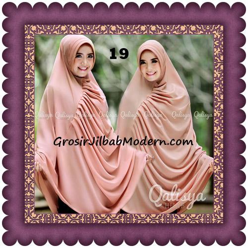 Hijab Cerutti Khimar Rafa Original by Qalisya No 19 Peach Tua