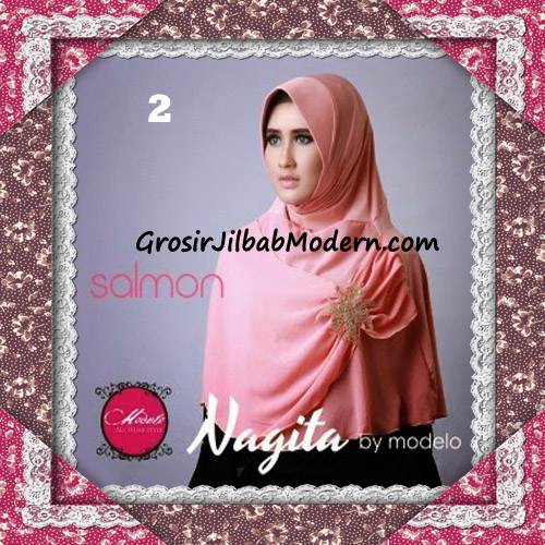 Hijab Instant Modis Trendy Nagita Seri 4 Original by Modelo No 2 Salmon