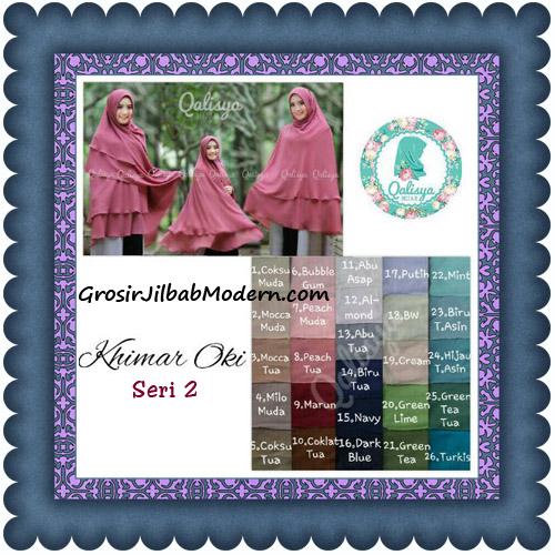 Hijab Khimar Cerutti Jumbo Ala Oki Setiana Seri 2 Original by Qalisya Series