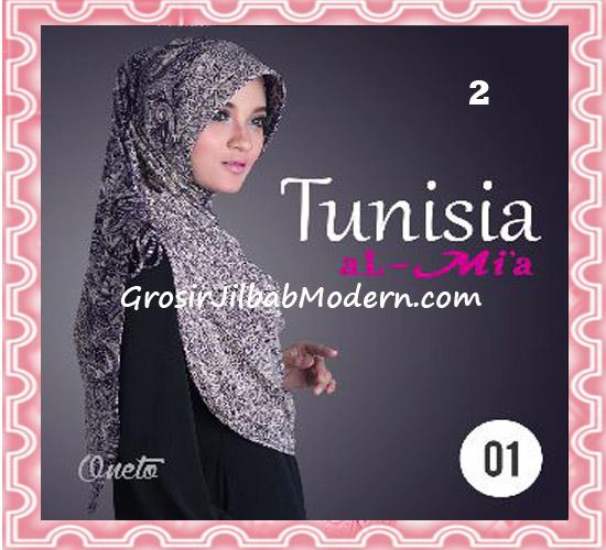 Jilbab Bergo Instant Kerut Tunisia Seri 01 Original By AlMia No 2