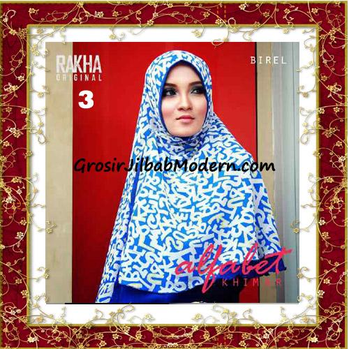 Jilbab Cerutti Jumbo Trendy Khimar Alfabet Original by Rakha Brand No 3 Birel
