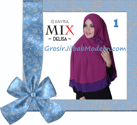 Jilbab Cerutti Modis Delisa Mix Original By Sayra No 1