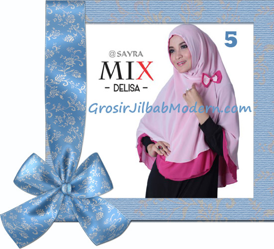 Jilbab Cerutti Modis Delisa Mix Original By Sayra No 5