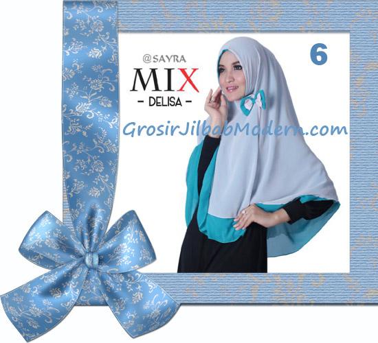 Jilbab Cerutti Modis Delisa Mix Original By Sayra No 6