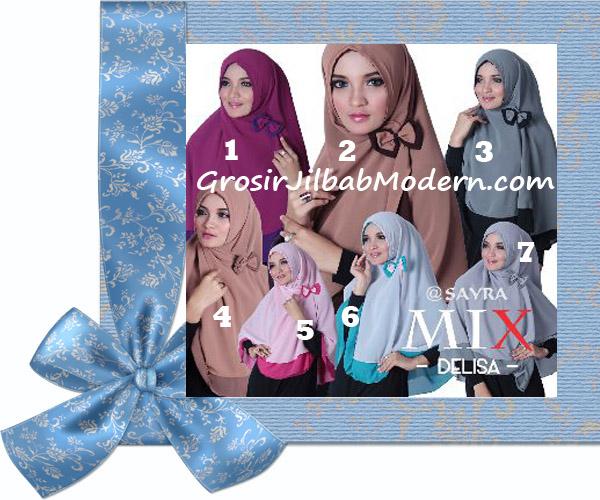 Jilbab Cerutti Modis Delisa Mix Original By Sayra Series