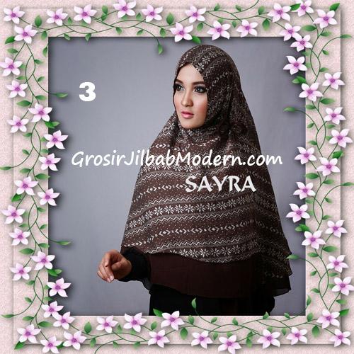 Jilbab Cerutti Nyentrik Khimar Etnik Original by Sayra No 3
