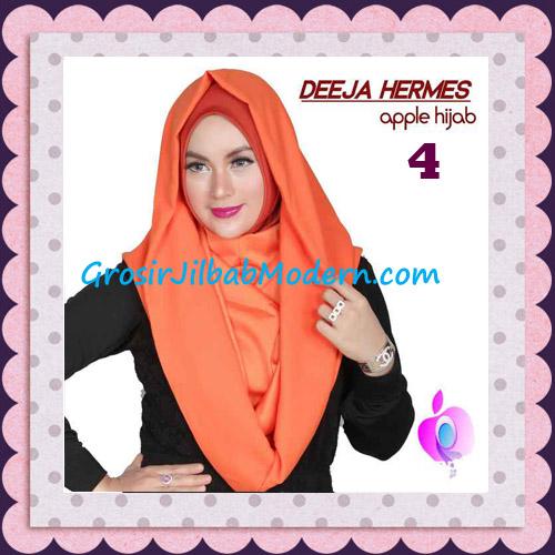 Jilbab Hoodie Instant Trendy Deeja Hermes Original By Apple Hijab Brand No 4 Sunkist