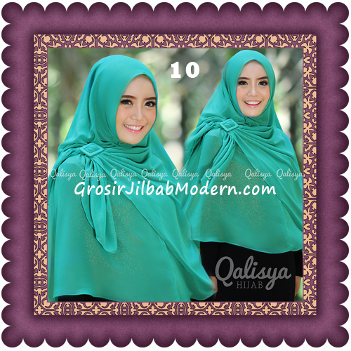 Jilbab Khimar Syar'i Trendy Halwa Non Pet XL Original by Qalisya No 10