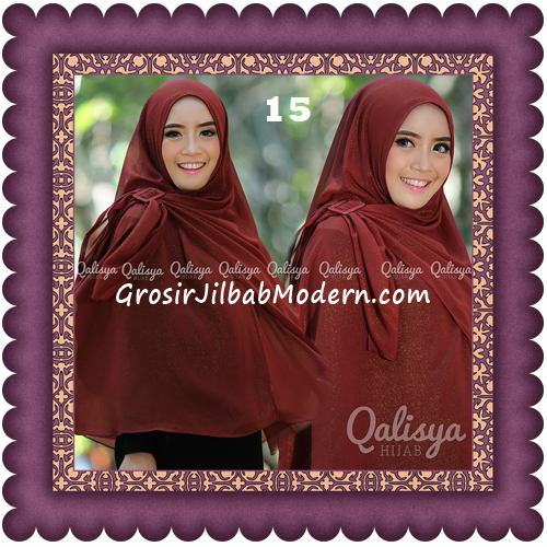 Jilbab Khimar Syar'i Trendy Halwa Non Pet XL Original by Qalisya No 15
