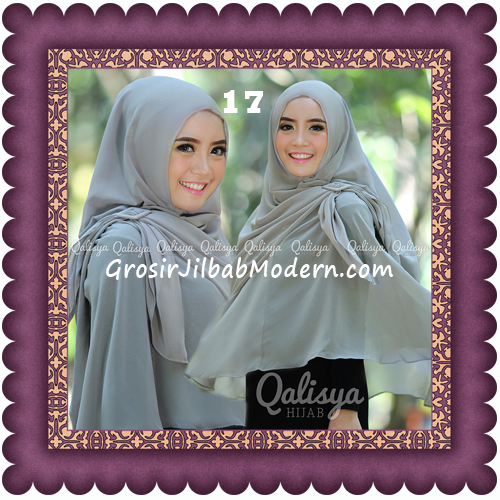 Jilbab Khimar Syar'i Trendy Halwa Non Pet XL Original by Qalisya No 17