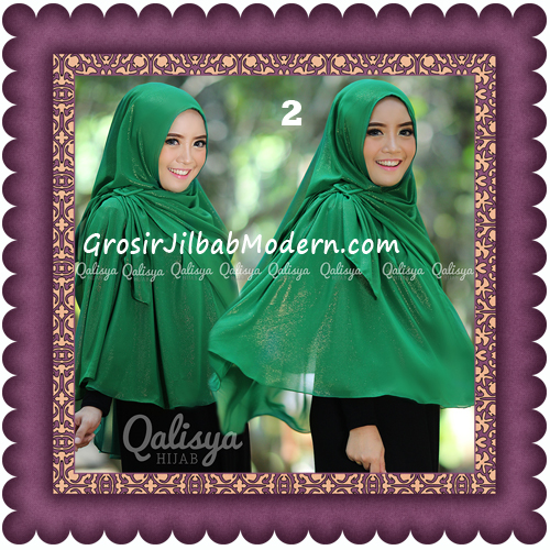 Jilbab Khimar Syar'i Trendy Halwa Non Pet XL Original by Qalisya No 2