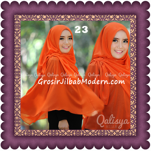 Jilbab Khimar Syar'i Trendy Halwa Non Pet XL Original by Qalisya No 23
