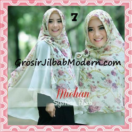 Jilbab Kombinasi Flower dan Polos Khimar Michan Pet Original by Syahida No 7
