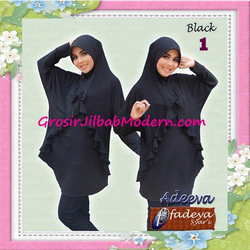 Jilbab Lengan Polos Bergo Adeva Original By Fadeya No 1 Black