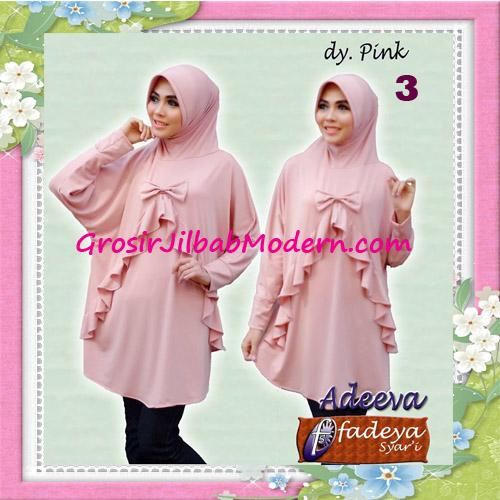 Jilbab Lengan Polos Bergo Adeva Original By Fadeya No 3 Dusty Pink