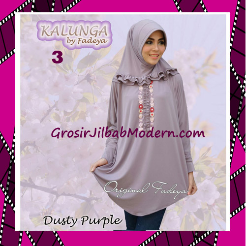 Jilbab Lengan Simple Trendy Kalunga Original by Fadeya No 3 Dusty Purple
