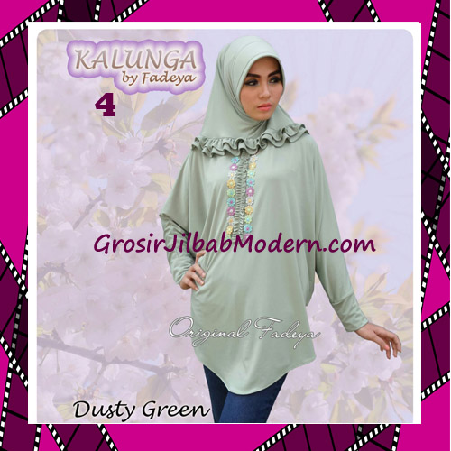 Jilbab Lengan Simple Trendy Kalunga Original by Fadeya No 4 Dusty Green