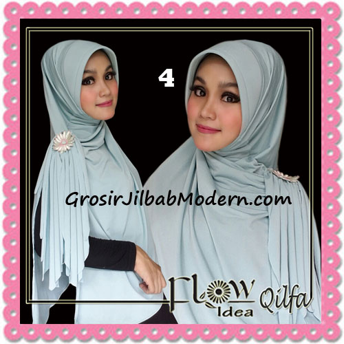 Jilbab Modern Instant Syria Qilfa Original Flow Idea No 4 Dusty Tosca