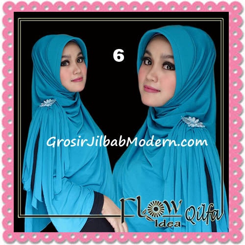 Jilbab Modern Instant Syria Qilfa Original Flow Idea No 6 Biru Tosca