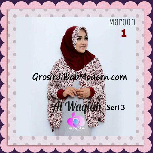 Jilbab Tangan Syar'i Al Waqiah Seri 3 Original by Apple Hijab Brand No 1 Maroon