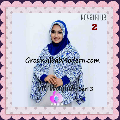 Jilbab Tangan Syar'i Al Waqiah Seri 3 Original by Apple Hijab Brand No 2 Royal Blue