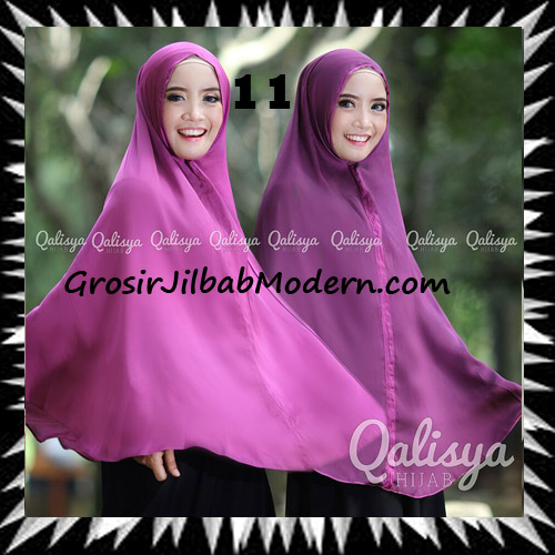 Jilbab Basic Khimar Bolak Balik Cantik Original By Qalisya No 11